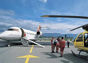Транспортировка больноых самолётом, Медицинские чартеры из России и стран СНГ в Европу